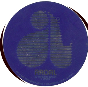 Pegatina Aroal azul. S. Fco.Javier