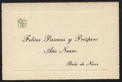 Tarjeta de felicitacion Bola de nieve_