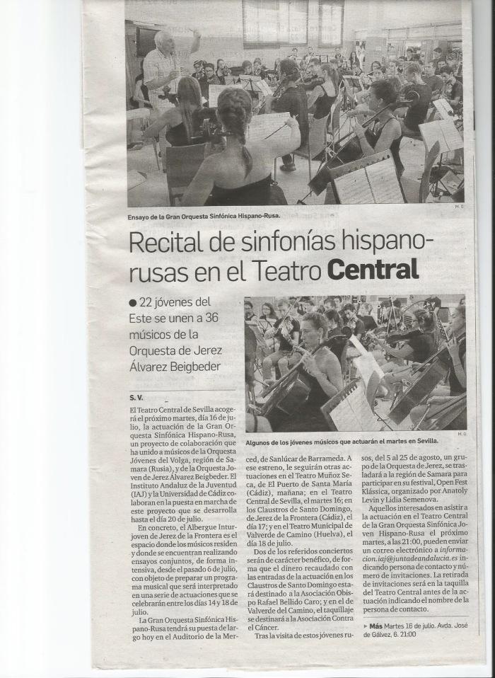 La Orquesta Hispano Rusa en la prensa.