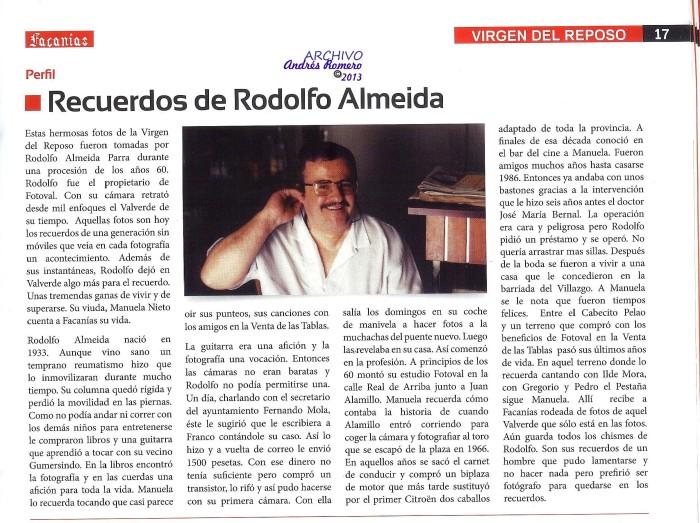 Rodolfo Almeida. Semblanza