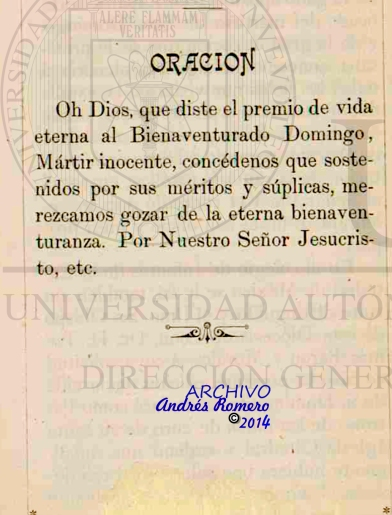 Vida del inocente mártir Santo Domingo de Val