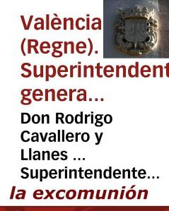 REGNE DE VALÉNCE.excomunion