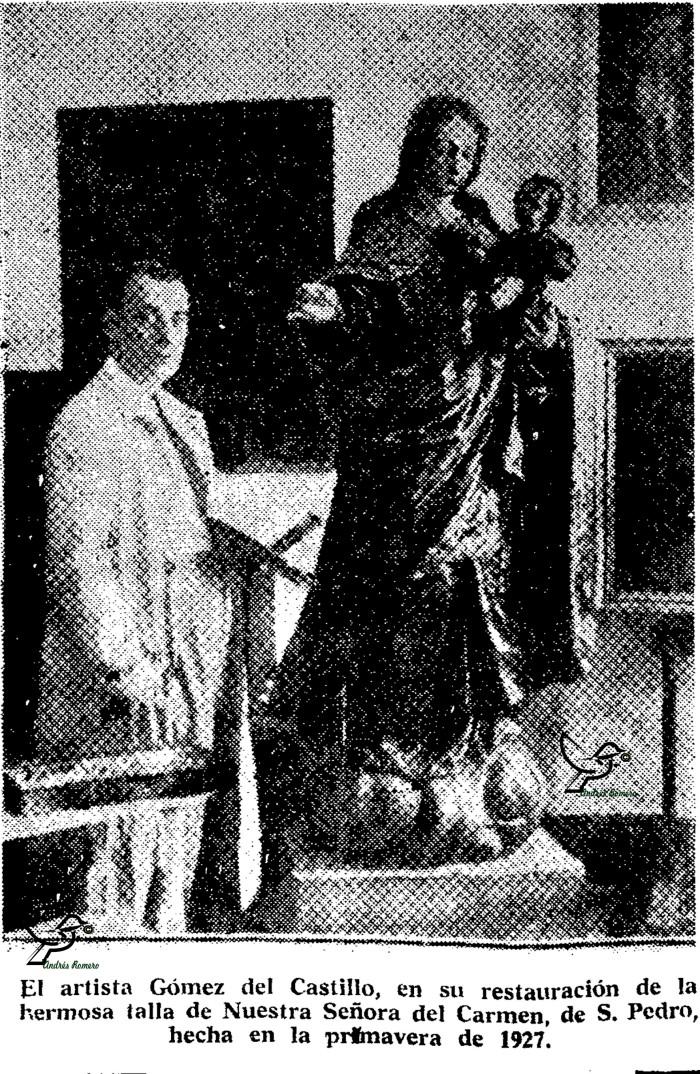 GOMEZ DEL CASTILLO 1927.LA VIRGEN DEL CARMEN Y HUELVA. DIAZ HIERRO. 1970